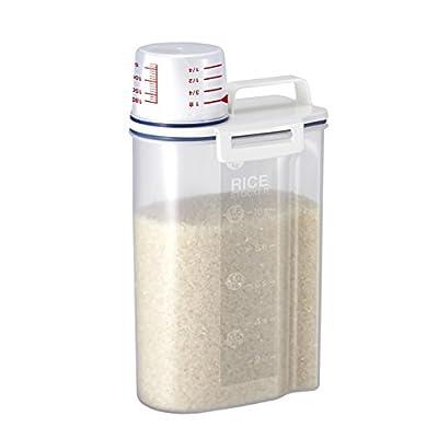 アスベル 密閉米びつ2kg ホワイト 7509
