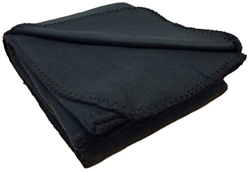 "Anico Cozy Polar Fleece Blanket, Travel Blanket, 50"" x 60"", Black"