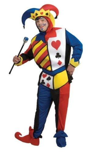 Costumes For All Occasions RU16869LG Playing Card Joker Adult Lg