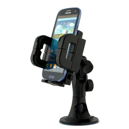 iKross Car Vehicle Windshield Suction Mount Holder for Samsung Galaxy Mega / Galaxy Note 3 / Galaxy S5 Android Smartphone