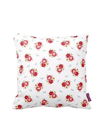 HOMEMANIA Cuscino Sfoderabile Bianco/Rosso