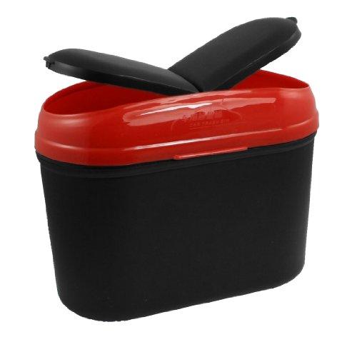 Amico Black Red Plastic Car Trash Rubbish Garbage Bin Box Case