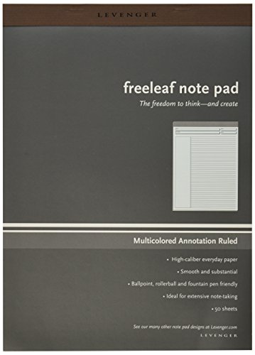 Levenger Freeleaf Multicolored Annotation RL Pads, Letter 5 (ADS5570) (Annotation Ruled Pads compare prices)