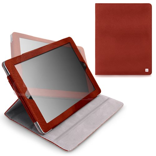 CaseCrown Axis Flip Case (Red) for iPad 4th Generation with Retina Display, iPad 3 & iPad 2 (Built-in magnet for sleep / wake feature)