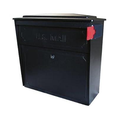 Epoch Design 7172 Townhouse Wall Mailbox With Lock & Anti-Pry System, Black Galvanized Steel