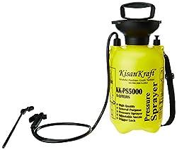 Kisan Kraft KK-PS5000 5-Litre Plastic Manual Sprayer (Yellow)