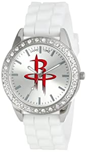 Game Time Ladies NBA-FRO-HOU Frost NBA Series Houston Rockets 3-Hand Analog Watch by Game Time