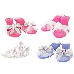 Glam Schuhe und Tiara Set (Spielset)