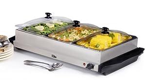 MaxiMatic EWM-6171 Elite Platinum 3-Tray 2-1/2-Quart Buffet Server, Stainless