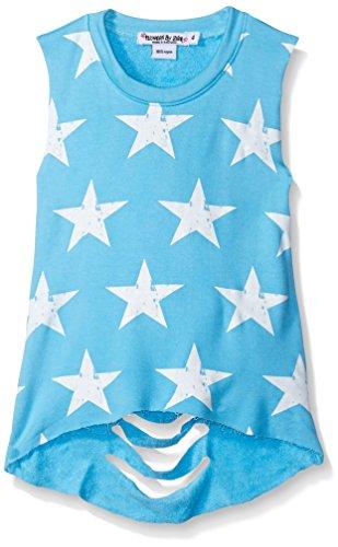 Flowers by Zoe Big Girls Star Slash Back Sleeveless Sweatshirt, Blue, X-Large