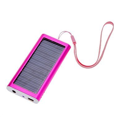 1350mah Solar Panel Portable Charger Backup External Battery Pack for Iphone 5s 5c 5 4s 4, Ipods, Ipad Mini Retina(apple Adapters Not Included), Samsung Galaxy Note 3, Note 2, S5 S4, S3, S2, Most Android Smart Phones and Tablets, More Other Usb-charged Devices (Rose Red) Reviews