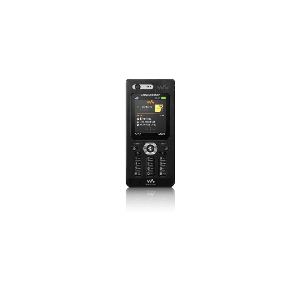 Sony Ericsson W880i Unlocked Cell Phone with 2 MP Camera, 3G, /Video Player, Memory Stick Pro Duo Slot  International Version with No Warranty (Pitch Black)