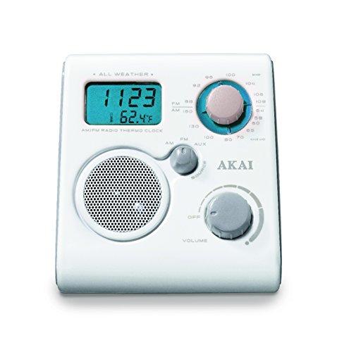 Akai AWP10WE - Radio impermeabile, colore bianco