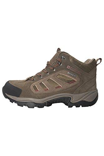 Mountain Warehouse Scarpe impermeabili da trekking Lockton a media altezza da uomo Marrone chiaro 43