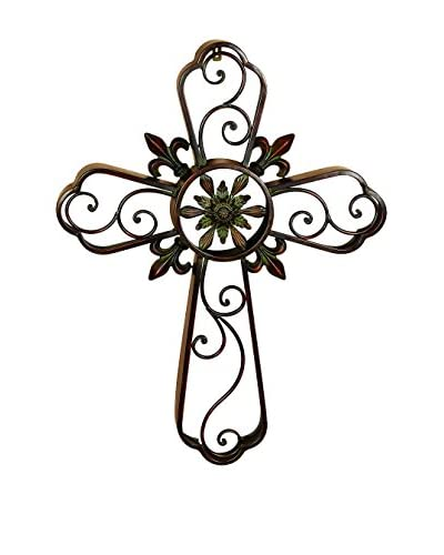 Benzara Ornate Cross Décor, Multi