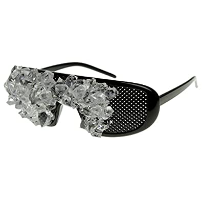 zeroUV - Bedazzled Crystalized Bejeweled Gem Covered Sunglasses (Black)
