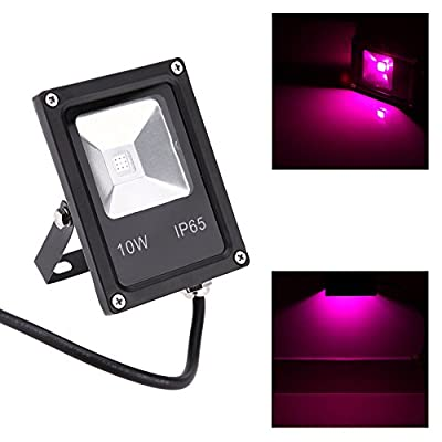 Docooler 85-265V 10W 9pcs LED Flood Light Plant Grow Light Hydroponic Lamp 8 Red 1 Blue Water Resistant Ultra Thin Metal Alloy Housing Durable Energy Saving
