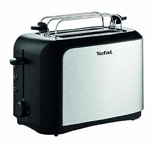 TT3565 Toaster Dialog / schwarz/gebürsteter Edelstahl / 7 Bräunungsstufe / 850 Watt / Brötchenaufsatz