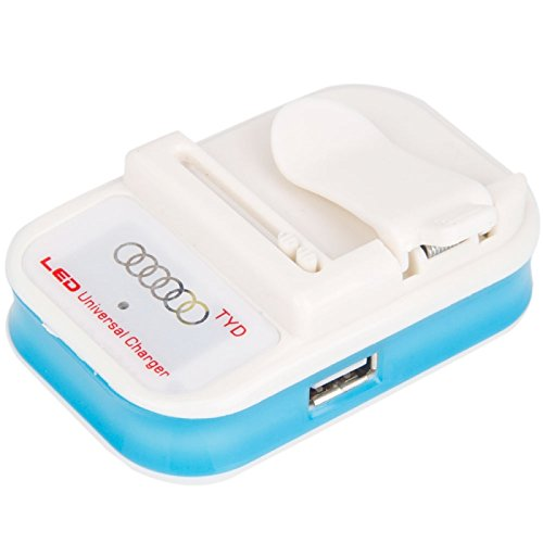 Great Value 600Ma Flashing Universal Charger With Led Display Blue