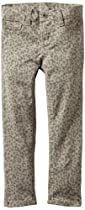 Almost Famous Girls 7-16 Animal Print Pant, Grey Denim, 5