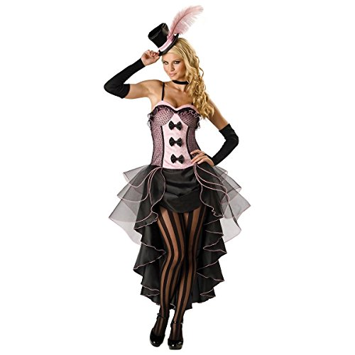 GSG Burlesque Costume Women Sexy Moulin Rouge Can Can Dancer Saloon Girl Dress (Sexy Striped Sailor Costume)