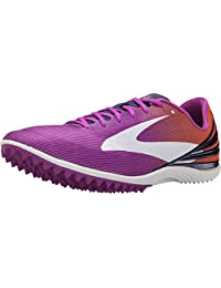 Brooks Women's Mach 17 Purple Cactus Flower/Orange Popsi Spikeless Size 9