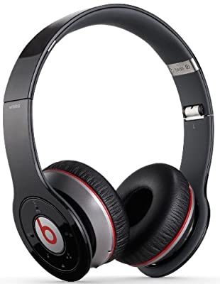 Beats by Dr. Dre Black Wireless Bluetooth On-Ear Headphones Travel Bundle with Portable Charger