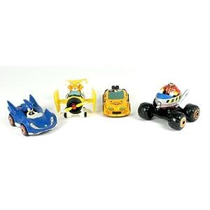 Sonic Sega AllStars Racing Set of 4 Racer Vehicles with 1.5 Inch Figures
