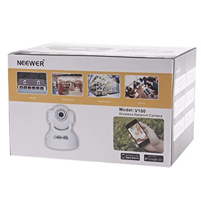 Neewer P2P Plug & Play High Definition Pan & Tilt IP Camera, Surveillance Camera System, Baby Monitor, Home Security, Two-Way Audio, Night Vision, Built-in Microphone With Cellphone Remote Monitor
