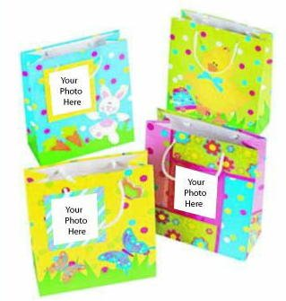 Easter Gift Bags with Photo Slot (12 count)