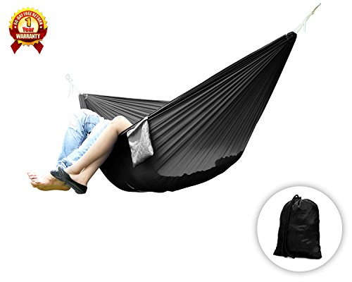 Yes4All Ultra Light Hammocks - Double - Black - ²Z21BZ