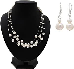 Outlet Item: Gift Set: Cormia's Floating Freshwater Pearl Set