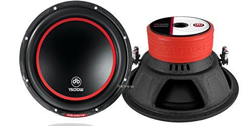 New Pair Db Drive K5-12D4V2 1500 Watt Car Audio Subwoofer Dual 4 Ohm Voice Coil