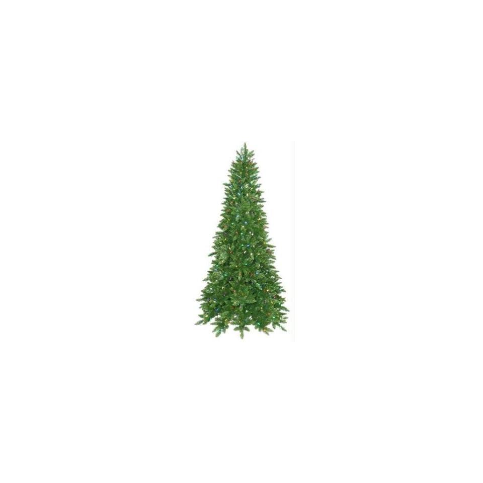 12 Pre lit Ashley Spruce Artificial Christmas Tree   Multi C6 LED Lights