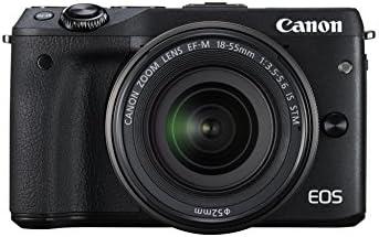 Canon EOS M3 Systemkamera (24 Megapixel, APS-C CMOS-Sensor, WiFi, NFC, Full-HD) Kit inkl. EF-M 18-55 mm IS STM Objektiv, schwarz