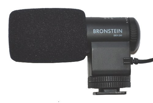 Bronstein Brn-200 (Hd Audio W/Noise Redux) Camera Video Dslr Condenser Shotgun Microphone With Mount (Fits Canon Gopro Nikon Sony Pentax Olympus)