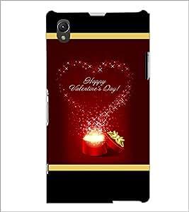 PrintDhaba Valentine Design D-2505 Back Case Cover for SONY XPERIA Z1 (Multi-Coloured)