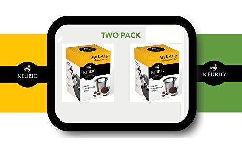 Keurig My K-cup Reusable Coffee Filter, Fits Models B30, B31, B40, B41, B44, B45, B50, B55, B60, B65, B66, B70, B75, B76, B77, B79, K10, K40, K45, K50, K55, K60, K65, K70, K75, K77, K79, B130, B140, B145 - 2 PACK (Keurig B45 Brewing System compare prices)