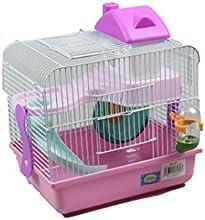 Jaula para hamster 27*21*25 cm de color rosa