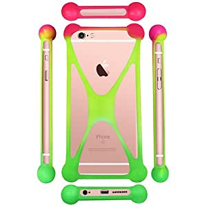 Casotec Universal Silicone Bumper Frame Soft Gel Phone Case Cover for Alcatel OneTouch Pop Star - Multicolor
