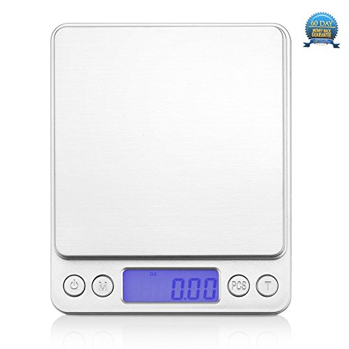 Tboom Digital Kitchen Scale, Electronic Cooking Food Scale with LCD Display, Electronic Kitchen Scale, Accurate Gram and Slim Design