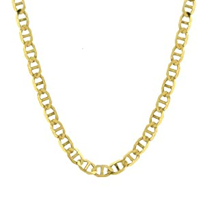 14k Yellow Gold Men's 3.2mm Mariner Chain Necklace, 24