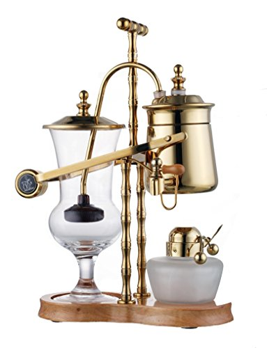 Diguo High Quality Belgian Belgium Luxury Royal Family Balance Syphon Coffee Maker Gold Color F-2013B (Royal Siphon Coffee Maker compare prices)