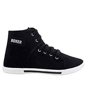 Maddy's Black Casual Sneakers Shoes With Pair Of Socks For Men With Fashionably Top Quality Material Of Canvas In Various Sizes