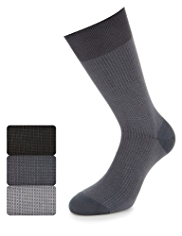 3 Pairs of Collezione Cotton Rich Socks