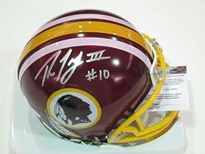 Robert Griffin III Washington Redskins Rookie Signed Autographed Mini Helmet...