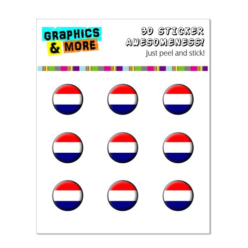 Graphics and More Netherlands Holland Flag Home Button Stickers Fits Apple iPhone 4/4S/5/5C/5S, iPad, iPod Touch - Non-Retail Packaging - Clear