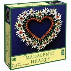 Madalene's Hearts Puzzle - Spring Heart on Blue: 1000 Pcs