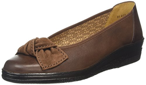 Gabor Shoes Comfort Basic, Mocassini Donna, Marrone (Sattel/Teak 33), 42 EU