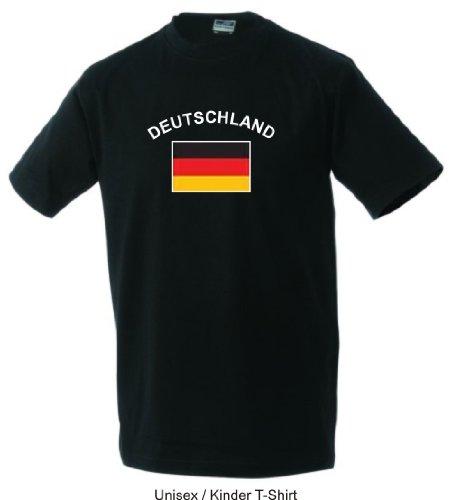Flag-Shirt Deutschland für Erwachsene (black,